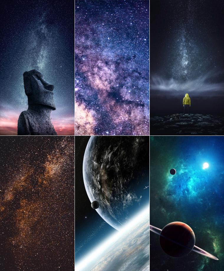 wallpaper celular 4k universo