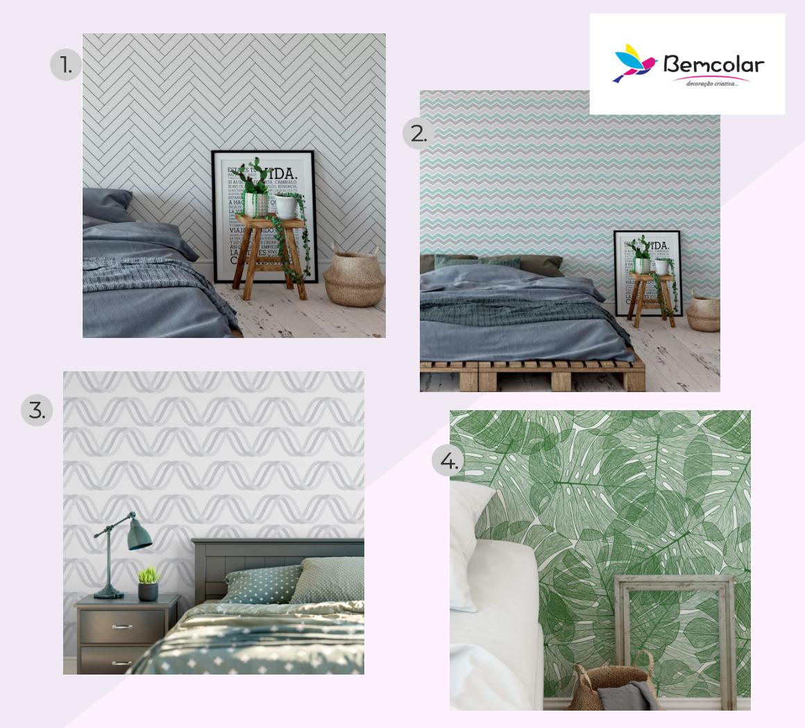 papel parede adesivo quarto bem colar