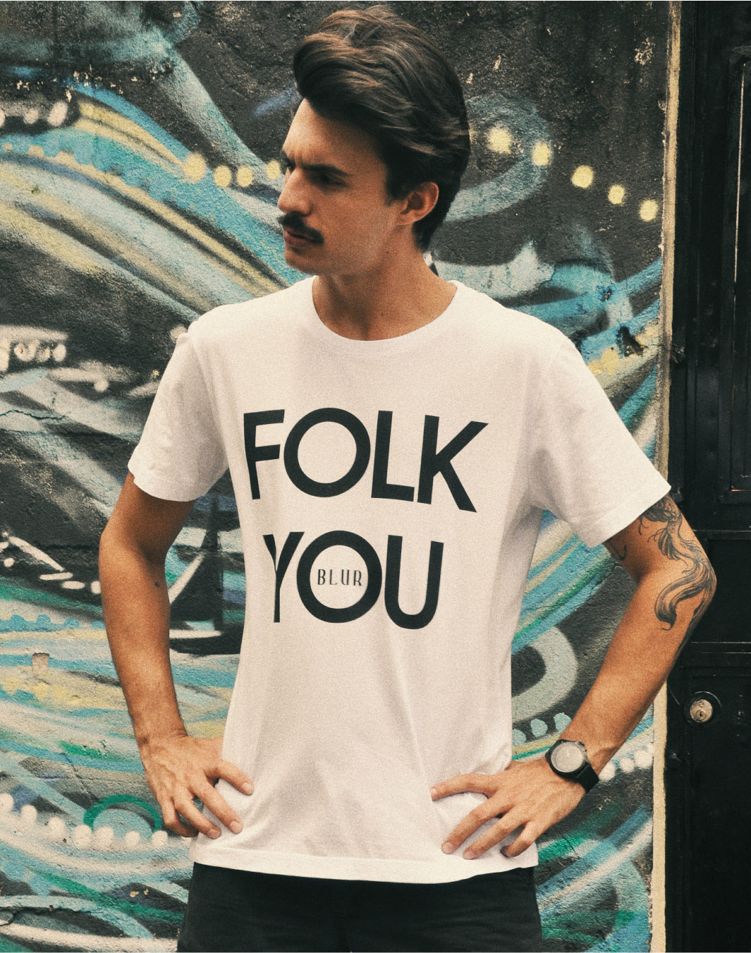 Blur Camisetas Estilosas Folk You