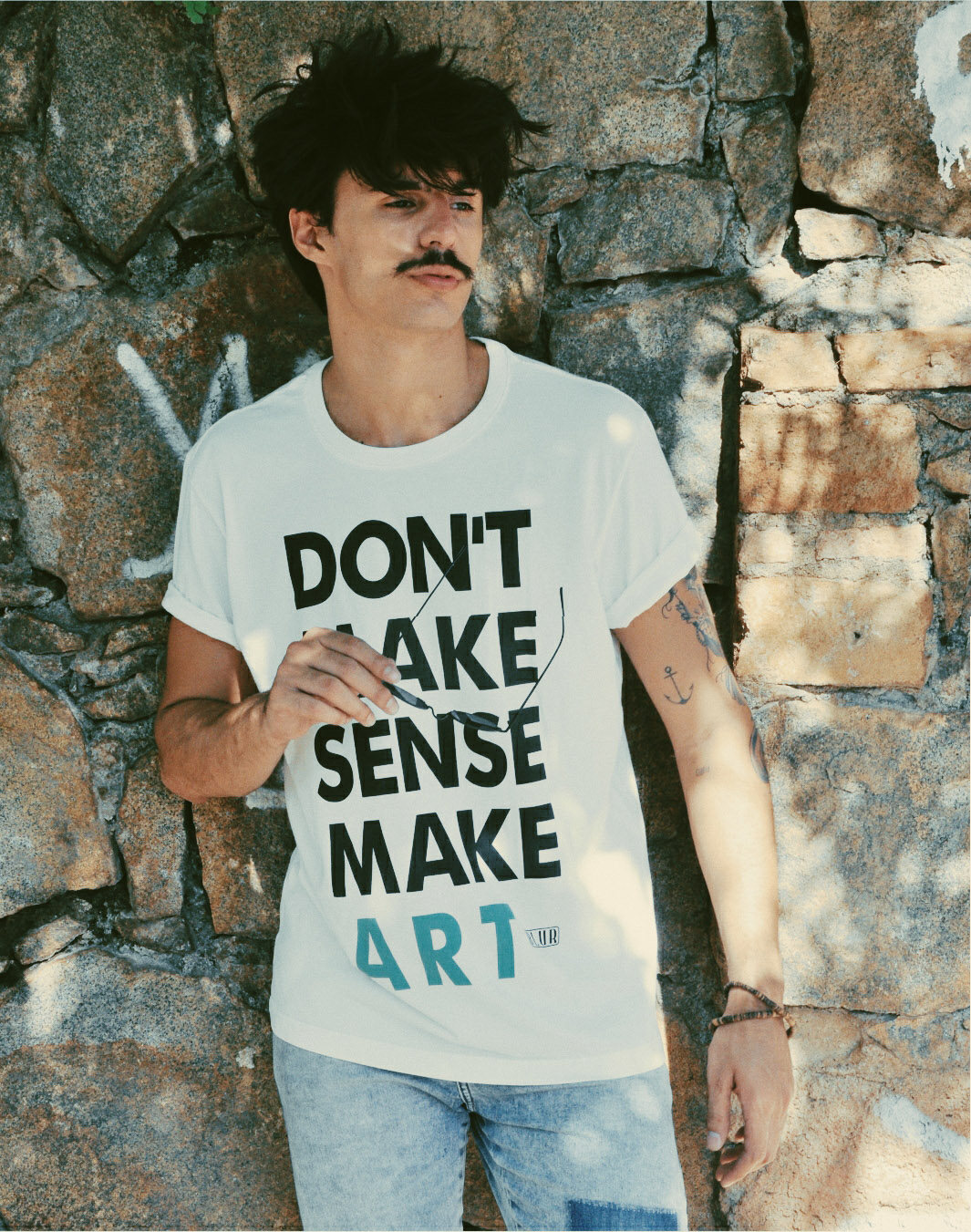 Blur Camisetas Estilosas No Make Sense Make Art