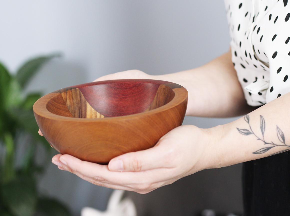 produtos artesanais bowl madeira Jardim Secreto