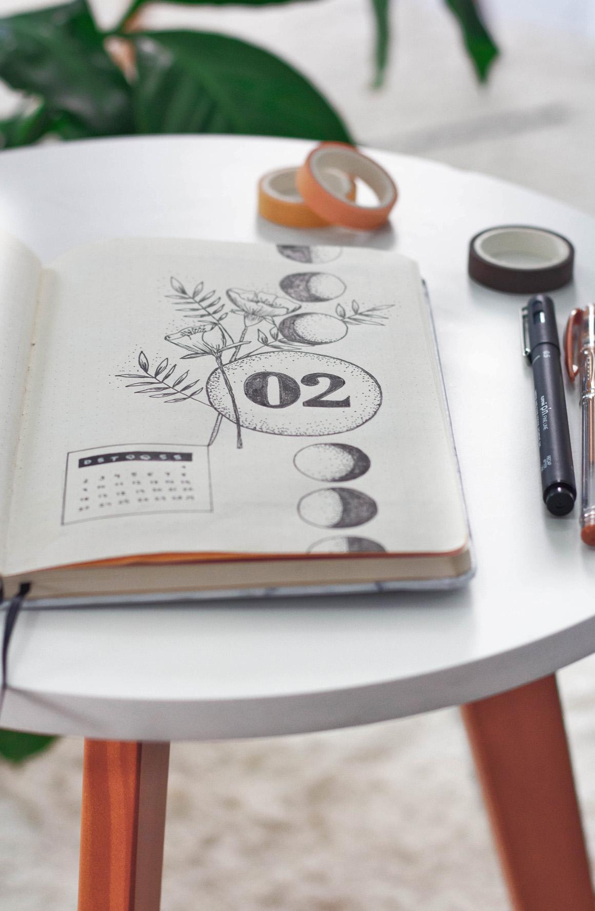 Bullet Journal ideias Colorindo Nuvens