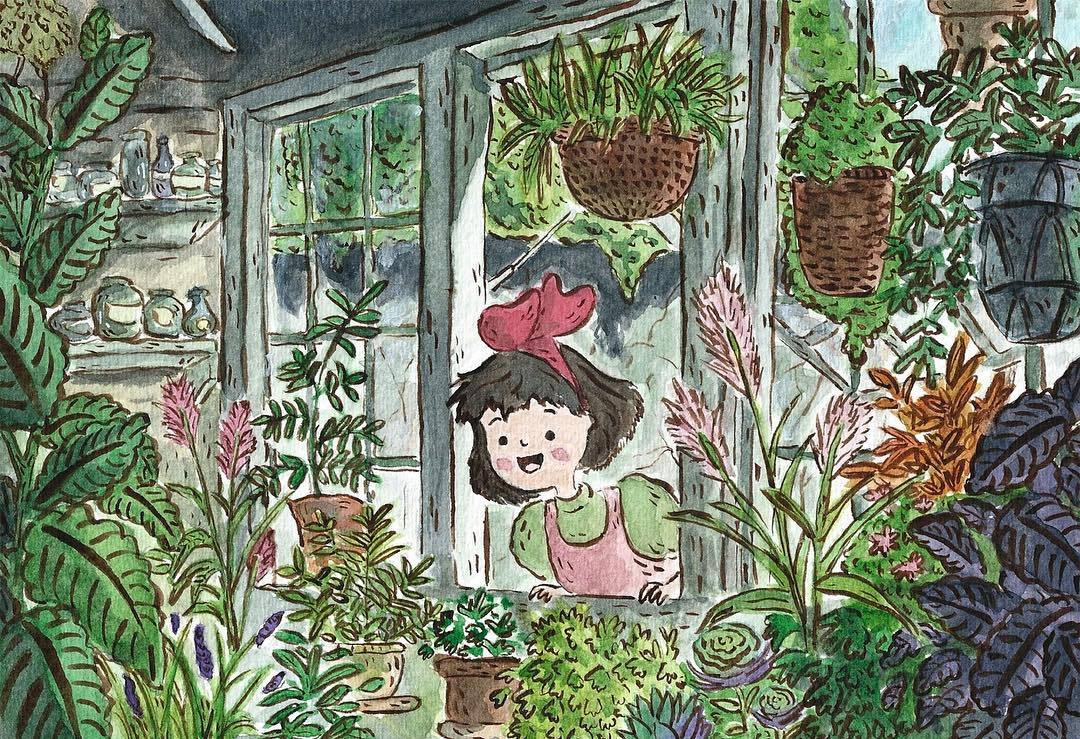 Arte Fanart Kiki Ghibli Estudios por KYE CHENG