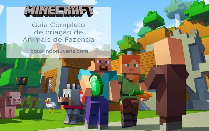 Guia de Criação de Animais de Fazenda no Minecraft-ColorindoNuvens-banner