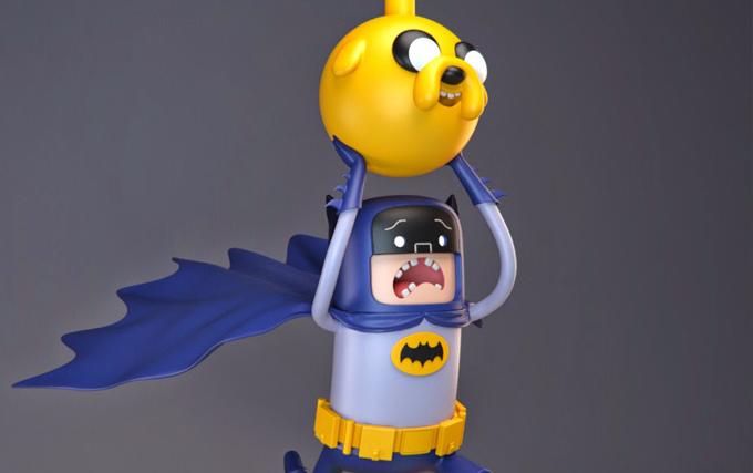 Batman Hora de Aventura by volatile vertex