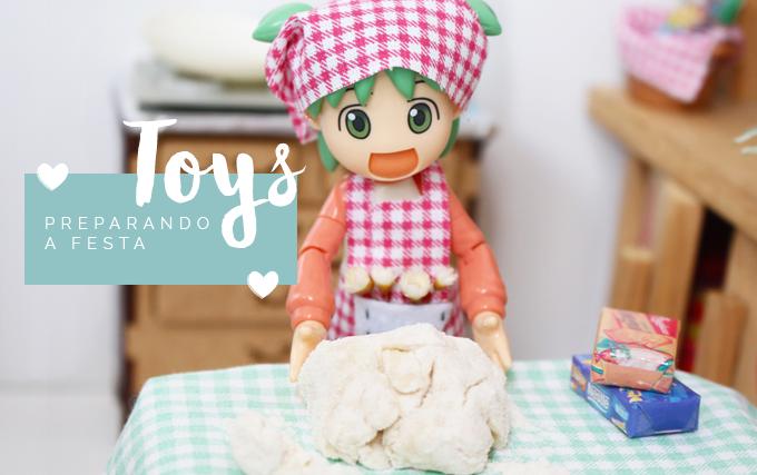 Fotografando Toy Yotsuba na cozinha