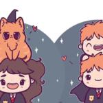Personagens Harry Potter versão kawaii