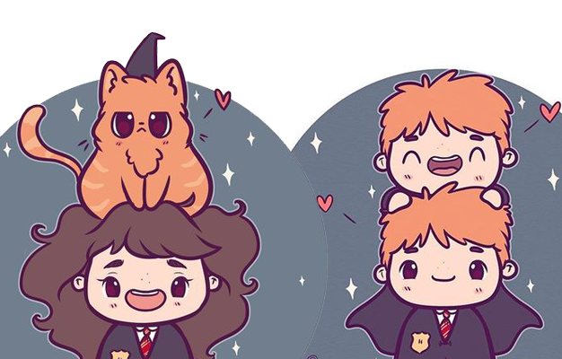 Personagens Harry Potter versão kawaii