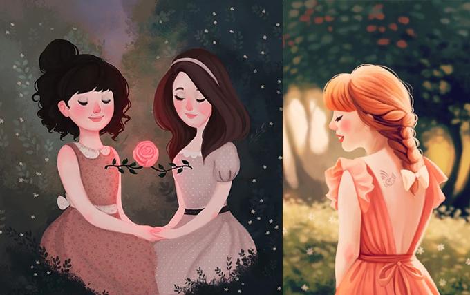 Ilustrações poéticas de Diana Pedott