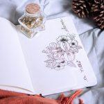 Bullet Journal 2020 setup tema floral